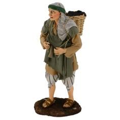Man with grape basket on his shoulders 30 cm Pigini