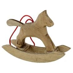 Wooden rocking horse cm 5,7x4, 4 h