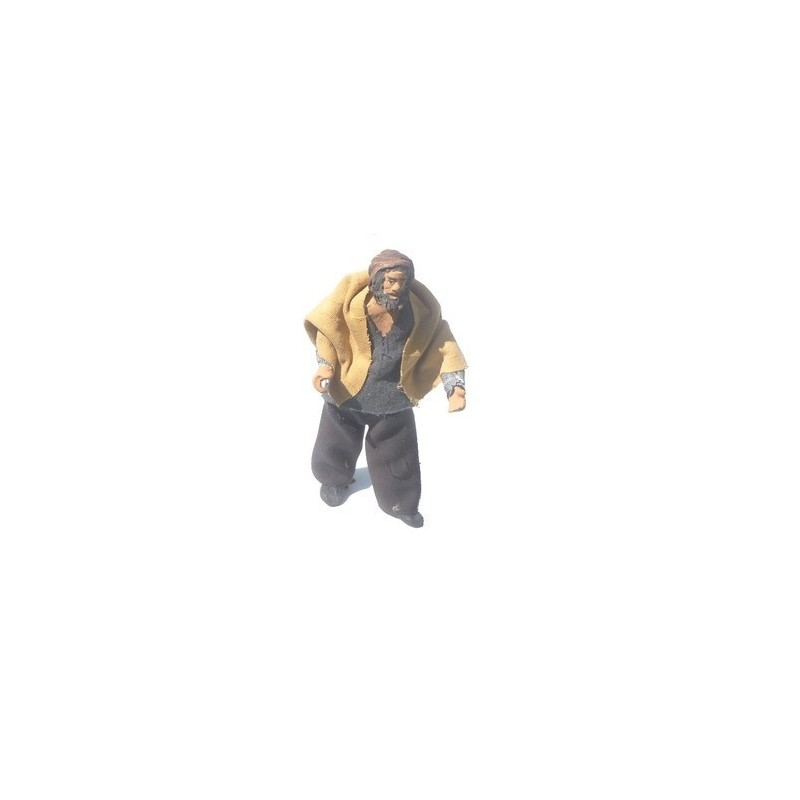 Standing man 15 cm with arm up-down - Cod. K15U04