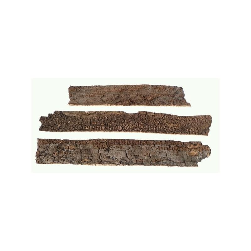 Set 8 Tavole sughero con crosta cm 28x10x1 Mondo Presepi