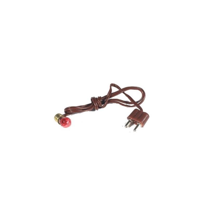Lampholder E5,5 + plug + lamp. Red- LR41