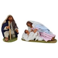 Natività con Madonna e Bambinello coricati 10 cm