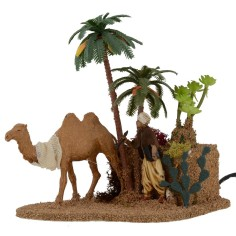 Arabic with camel with double movement series 10 cm Landi