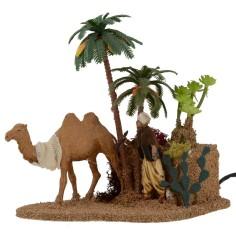 Arabo con cammello con doppio movimento serie 10 cm Landi