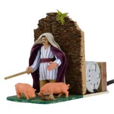 8 cm series pig farmer in motion