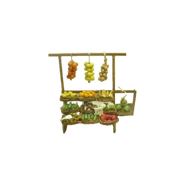 Banco deluxe Frutta e verdura - DX928 Mondo Presepi