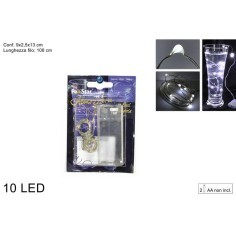 10 Micro Led cold white light to batteries