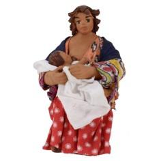Donna seduta che allatta serie 10 cm