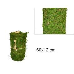 Muschio per presepe a tappeto colorato in rotolo da 60x12 cm