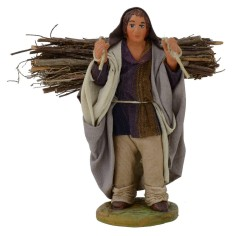 Boscaiolo con legna 12 cm