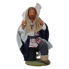 Buon pastore inginocchiato con pecora serie 12 cm