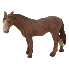 Brown horse for statues 12 cm