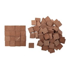 Pavimento per presepe quadrato mm 10x10 in cotto disponibile