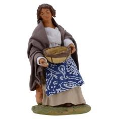 Donna seduta con cesto serie 15-16 cm