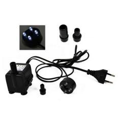 Pompa con luci led 400 l/h 80 cm 7W- 220V. per presepe