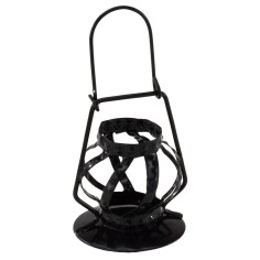 Black Lantern in metal for statues 30 cm