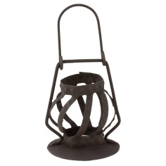 Lantern in metal aged for statues 30 cm
