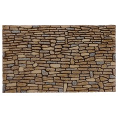 Wall of stones painted in resin cm 26x16x0, 9 h for presepe