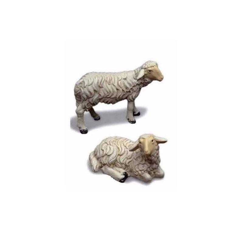 Mondo Presepi Set 2 pecore in resina per statue cm 20-24
