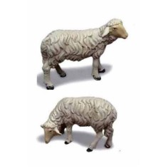 Set 2 pecore in resina per statue cm 20-24