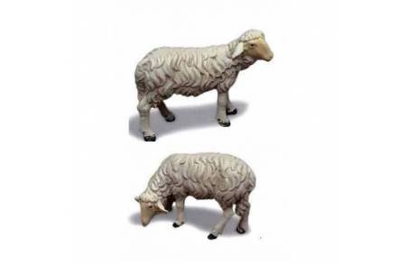 Set of 2 resin sheep for statues 20-24 cm