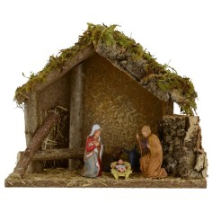 Hut for presepe with Nativity cm 24x12, 5x19, 5 h