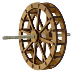 Ruota mulino ad acqua in legno ø 12 cm