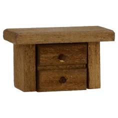 Comodino in legno cm 4,5x2x2,7 h