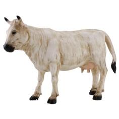 Mucca per presepe bianca per statue cm 30