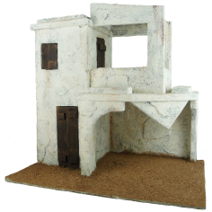 Arab house with portico cm 29x19x28, 5 h