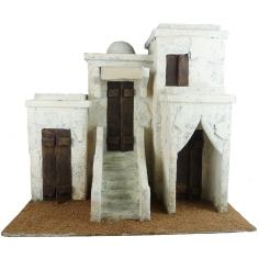 Arab palace with staircase and dome cm 29 ,5x19, 5x26, 5 h