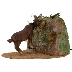 Brown goat eating series 30 cm in motion for statues of 30 cm