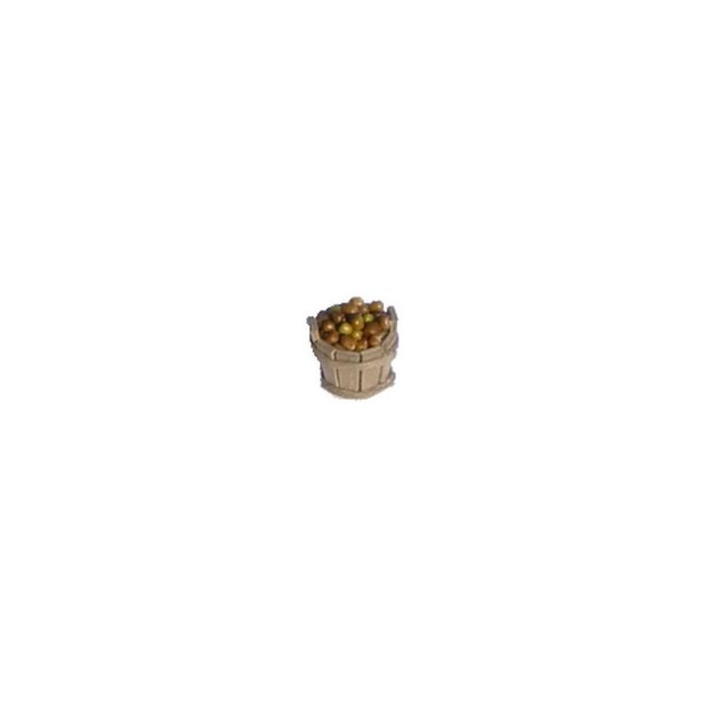Mondo Presepi Tinozza in legno cm 3 con olive - OV03