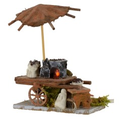 Castagnaro wagon with working fire 7,5x3, 5x9 h cm for statues