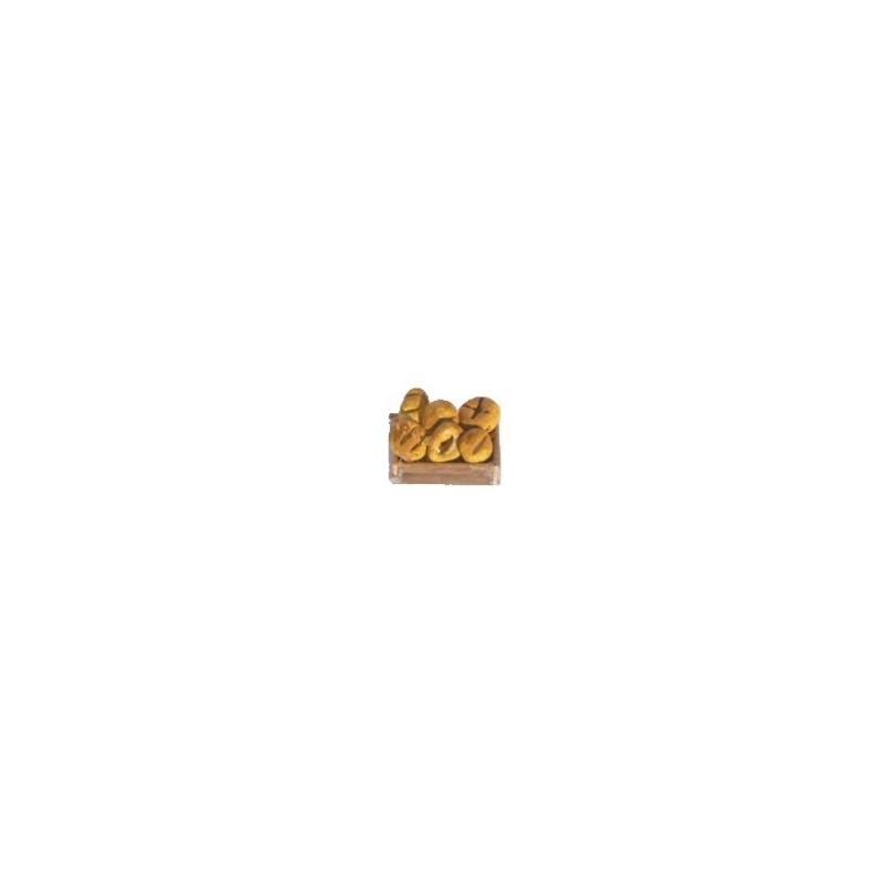 Mondo Presepi Cassetta con pane cm 3,5