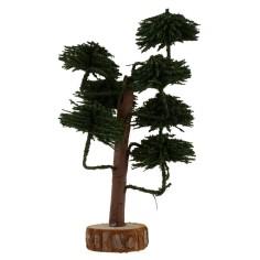 Albero con chioma verde bosco h. 13 cm