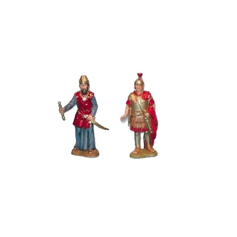 Mondo Presepi Set Re Erode e soldato romano cm 10 Landi - 1053-2
