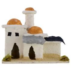 Casa araba con minareto cm 12x7x10,5 h