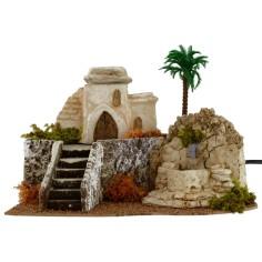Casa araba con fontana funzionante cm 29x23x20,5 h