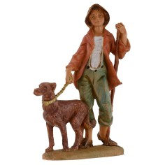 Giovane a passeggio con cane 12 cm Fontanini