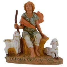 Pastore seduto con pecore 12 cm Fontanini