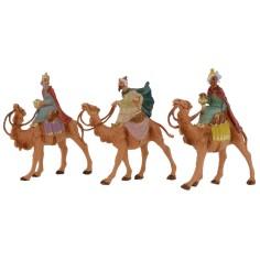 Set 3 Re Magi a cammello serie 6,5 cm Fontanini