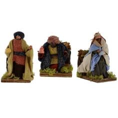 Three Magi Kings in motion 12 cm