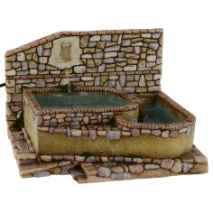 Fountain functioning from square with coat of arms cm 23x25x15, 5 h