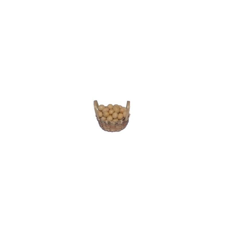 Mondo Presepi Cesto cm 3,5 in vimini con uova - U30