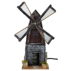 Windmill in resin working cm 11x11x28 h