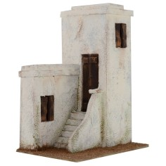 Arab house with staircase cm 19 ,5x14, 5x26, 5 h for statues from 8-10