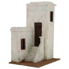 Arab house with staircase cm 24x17x31, 5 h for statues from 12 cm