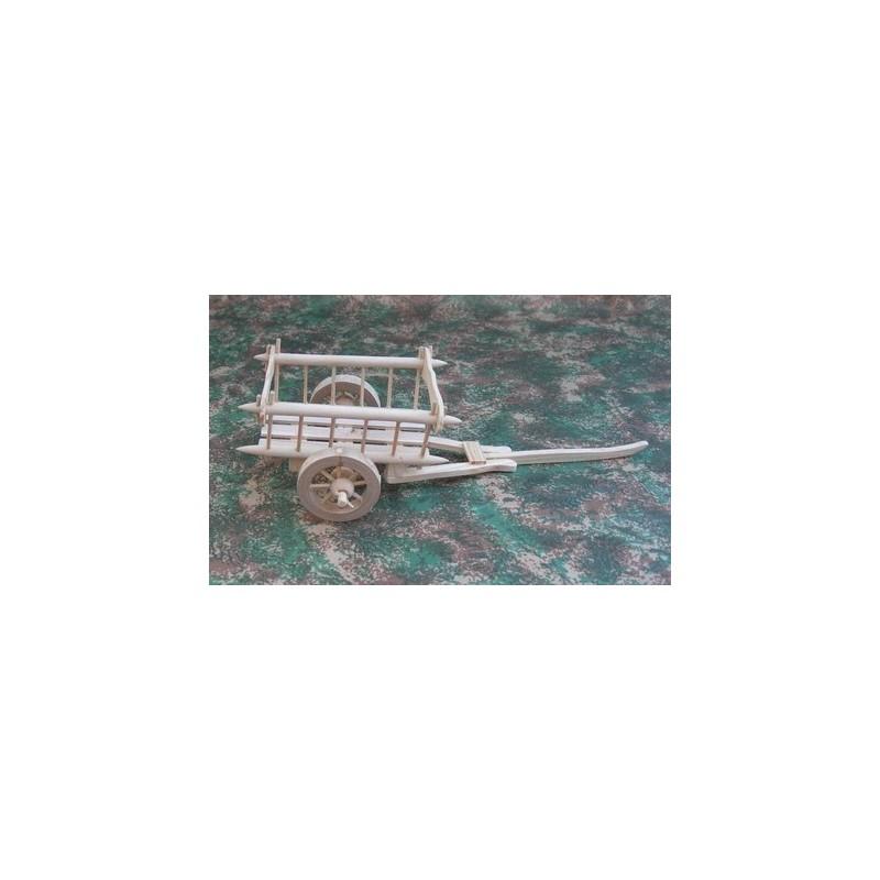 Mondo Presepi Carro in legno per presepe cm 14x10x6