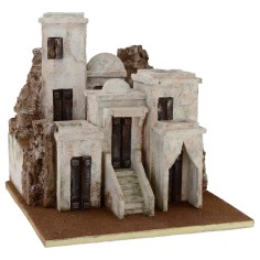 Arab village with houses cm 40 ,5x40, 5x39 h for statues from 10 cm